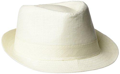 Henschel Men's Linen/Cotton Blend Solid Fedora, Natural, Large