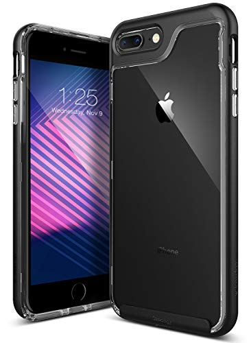 Crystal Snap Hard Case Cover - iPhone 7 Plus Case/iPhone 8 Plus Case, Caseology [Skyfall Series] Transparent Clear Slim Scratch Resistant Cover Drop Protection for Apple iPhone 7 Plus (2016)/iPhone 8 Plus (2017) - Matte Black