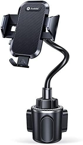 Andobil Cup Holder Phone Mount, [Never Hurt the Car] Universal Cup Phone Holder for Car, Adjustable Durable Gooseneck Cradle Car Phone Mount Fit for iPhone 12 Pro Max/11/XR/Xs/X/8 Plus/Samsung S20/S10