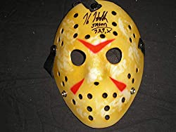 "Kane Hodder Jason Voorhees in Friday 13th Part 7,8,9,& 10 Hand Signed Hockey Mask (Plastic) Kane added the inscription "" JASON 7,8,9,X "" Autographed by Kane at our private signing Comes with BECKETT AUTHENTICATION Certificate of Authenticity (COA..."