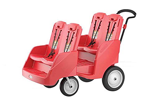 Foundations Gaggle 4 Multi-Passenger Buggy Stroller, Red by Foundations