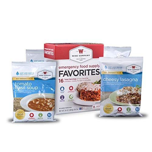 Wise Foods Emergency Survival Freeze Dried Food Favorites Sample