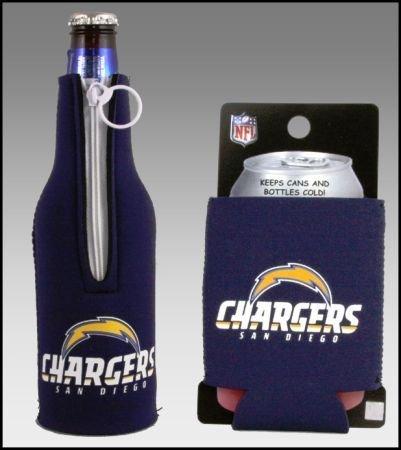 セットの2 San Diego Chargers Can & Bottle Koozie Cooler B002OCAA6G