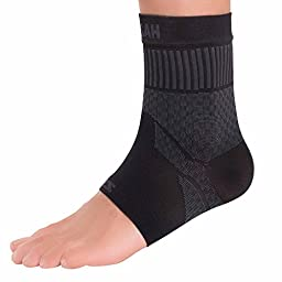 Zensah Compression Ankle Sleeve, Black, Small