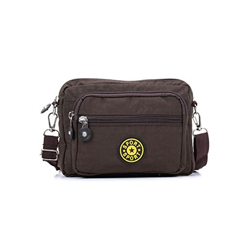 Travel Bag SALLY Bag Portable Casual Messenger Solid Cross Women YOUNG Coffee Body w4xqrYX4