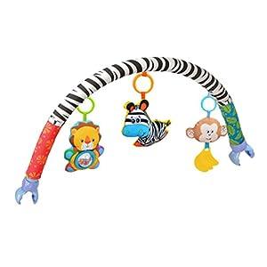 Amazemarket Baby Infant Kids Toy Soft Plush Stroller Clip Bed Crib Pram Hanging Animals Zebra Lion Monkey Arch Squeak…