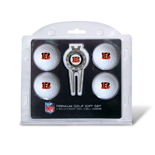 NFL Cincinnati Bengals 4 Golf Ball And Divot Tool Set by Team Golf