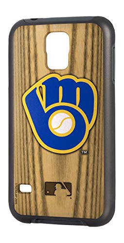 (Team ProMark MLB Milwaukee Brewers Rugged Series Phone Case for Galaxy S5, 6 x 3, Brown)
