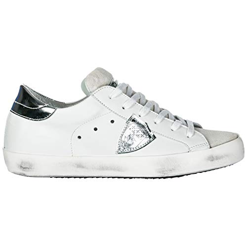 d515ad1c77 Philippe Model Women Paris Sneakers Basic Blanc Silver 6 US