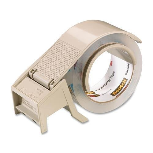 MMM H-122 Scotch H-122 Box Sealing Tape Dispenser - Holds Total 1 Tape(s) - 3'' Core - Refillable - Adjustable Tension Mechanism, Retractable Blade - Plastic - Gray by Scotch Brands