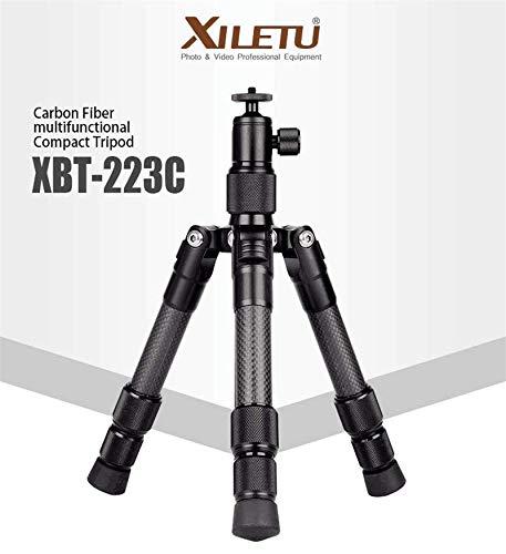 XILETU XBT-223C カーボンファイバーデスクトップミニ三脚 カメラ用ボールヘッド付き   B07QR3K6V2
