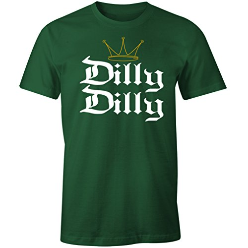 Dilly Dilly Funny Beer St. Patrick's Day Shirt (3XL, Forest Green)