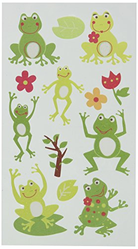 Sticko Classic Stickers-Frog World Glitter