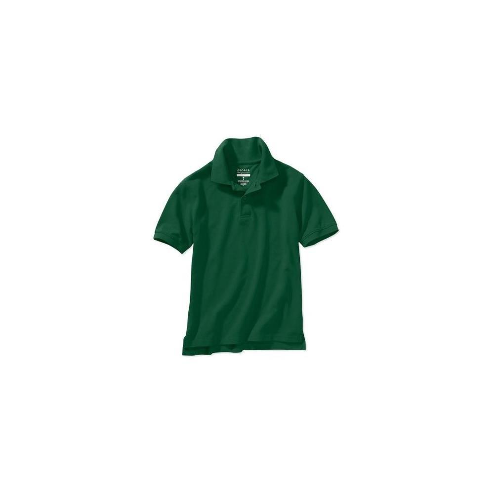 George Boys' School Uniform Short Sleeve Polo, Hunter Lodge, Medium (8