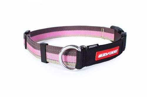 Ezydog Checkmate Collar, Large, Candy Stripe