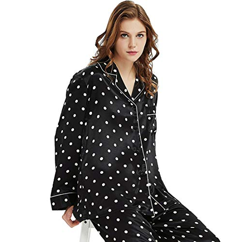 jamas Set Sleepwear Loungewear Black L ()