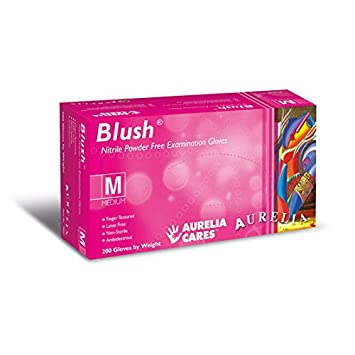 2 x Boxes of Aurelia Blush Pink Nitrile Latex Free Disposable Big Boxes of 200 Gloves