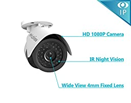 LaView 6 1080P IP Camera Security System, 8 Channel 1080P IP PoE NVR w/2TB HDD and 6 1080P 2MP White Bullet Surveillance Camera Kit