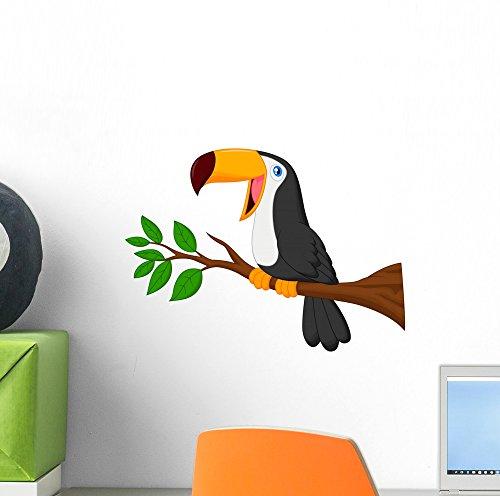 Wallmonkeys Cute Toucan Bird Cartoon Peel and Stick Wall ...