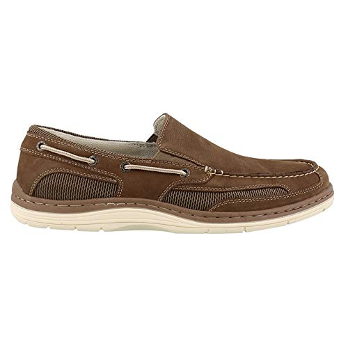 - Dockers Men's Danby Boat Shoe Dark Taupe Tumbled Nubuck 10.5 D US