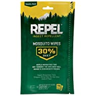 Repel Insect Repellent Mosquito Wipes 30% DEET, 15-Count