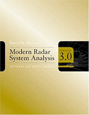 Modern Radar System Analysis Software and User's Manual, Version 3.0 by Artech House