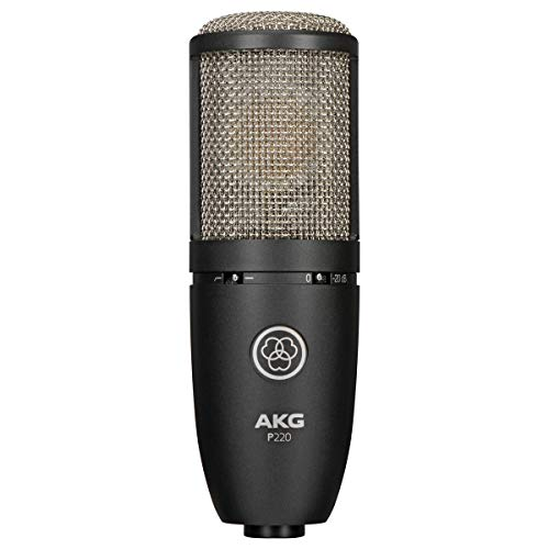 AKG Vocal Condenser Microphone, Black, 6.00 x 8.00 x 12.00