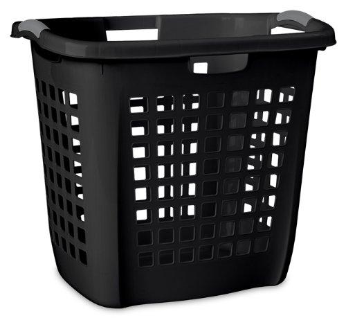 Sterilite 12259004 Ultra Easy Carry Hamper, Black Hamper w/ Titanium Inserts, 4-Pack - Ultra Laundry Basket