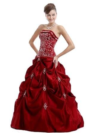 Amazon.com: Women's Formal Prom Dress , Burgundy: Clothing - photo #2