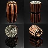 CHEFMADE Copper Canele Mold, 2-Inch Non-Stick