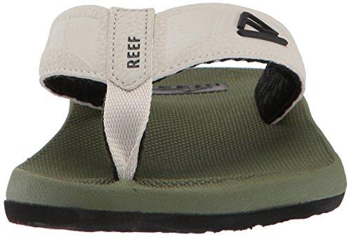 Tan Phantom Waterproof For Sandals Flops Mens Contoured Men Athletic Reef With Olive Flip Footbed 4UOqwSUE