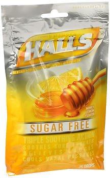 Drops Lemon Honey Mentho Lyptus (Halls Mentho-Lyptus Drops Sugar Free Honey-Lemon - 25 ct, Pack of 4)