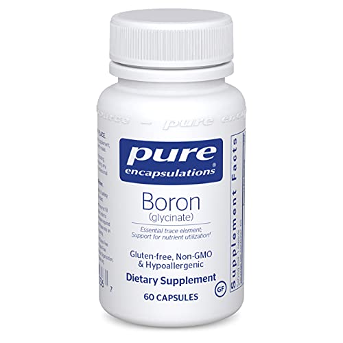 Pure Encapsulations Boron (Glycinate) | Supplement for Hormone Balance, Bone Strength and Health, Connective Tissue, and…