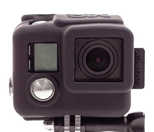XSories Silicone Cover HD4, Housing Cover for GoPro 4, GoPro 4 Housing, GoPro Accessories, GoPro 4 Accessories (Black)