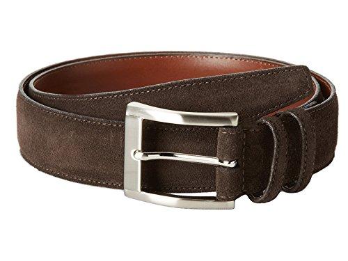 Torino Leather Co. Men's 35MM Italian Calf Suede Brown 36 (Italian Leather Calf Brown)