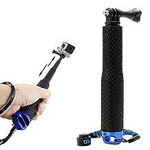Kocome Extendable Pole Mini Selfie Stick Waterproof Monopod Blue Fr GoPro Hero 4/3/3+