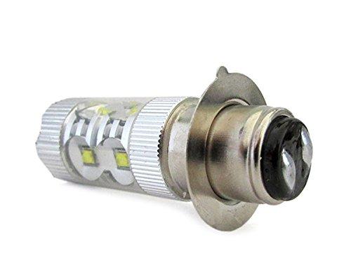Bombilla LED H6M con doble ampolla de 50 W, 12 V, 10 Smd Cree