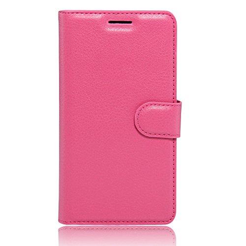 Lenovo Phab 2 carcasa funda / caso, KuGi ® Lenovo Phab 2 funda / caso - Caso Monedero pata de cabra de alta calidad PU cuero for Lenovo Phab 2 smartphone.(Negro) rosa