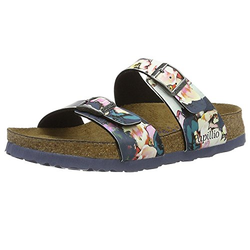 Papillio Womens Sydney Synthetic Sandals Painted Bloom Navy