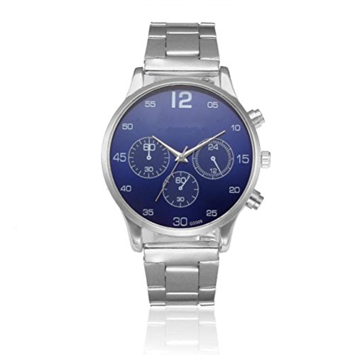 Mens Quartz Analog Watches, Wristwatches for Men Stainless Steel Dress Business Casual Clock (Pc Movement Round Dial)