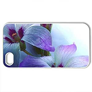 Purple Spring - Case Cover for iPhone 4 and 4s (Flowers Series, Watercolor style, White)