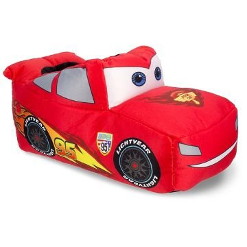 [Disney Size XL (11/12) Pixar's CARS the movie Lightning McQueen Infant / Toddler Boys Slippers] (Cars Movie Costumes)
