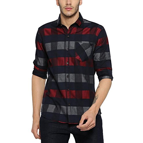 Pure Cotton Curved Hemline with Checkered Casual Shirt