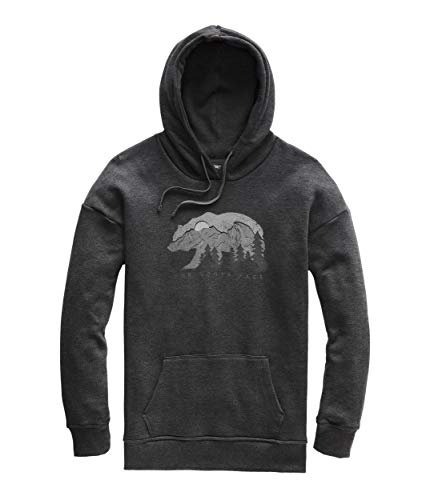 (The North Face Women's Bearscape Tri-Blend Pullover Hoodie, TNF Dark Grey Heather, Size M)