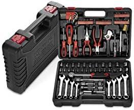 WOLFGANG Caja de herramientas manuales completa de 122 partes ...