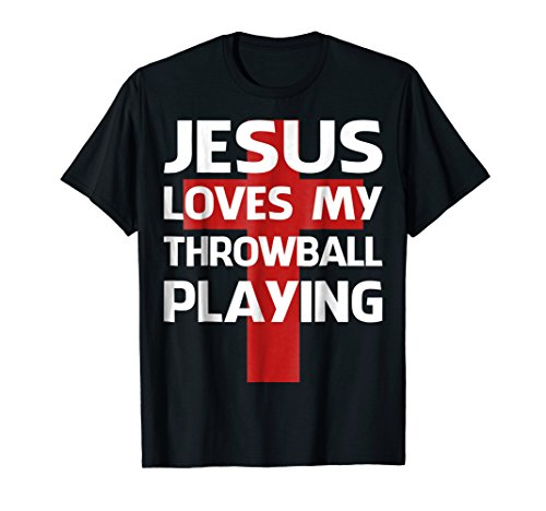 Throwball Player - Jesus love my funny Throwball player tshirt gift
