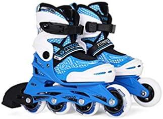 インラインスケート四輪サイズ調節可能ダブルアルミ合金ブラケット肥厚の靴シェル通気性アッパーPUはゴム車輪ニースを着用してください