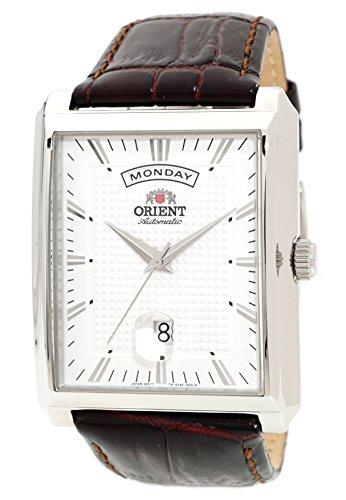 ORIENT Classic Automatic Wide Day Date Dress Watch EVAF005W (Automatic Tonneau Watch)