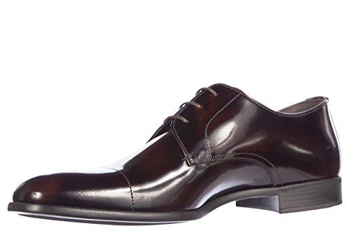 Derby Spazzolato Classiques Homme Cuir Lacets Chaussures Prada En À 8qxn4041H