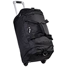 CWC Premium 23 Inch Rolling Travel Duffel with Retractable Handle